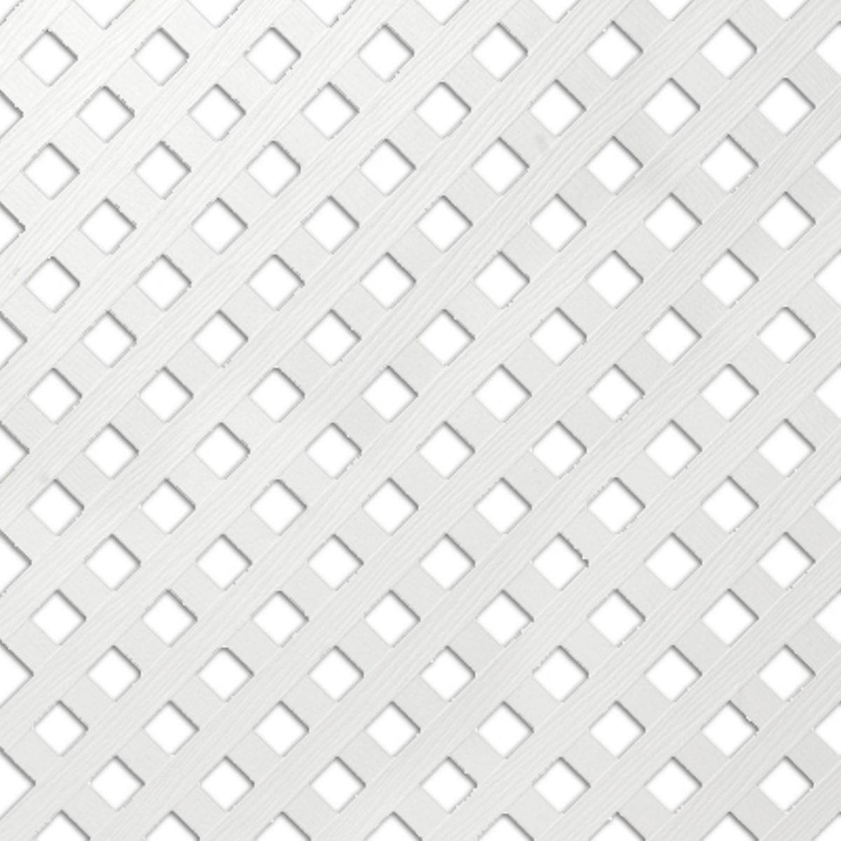 4 X 8 White Vinyl Privacy Lattice