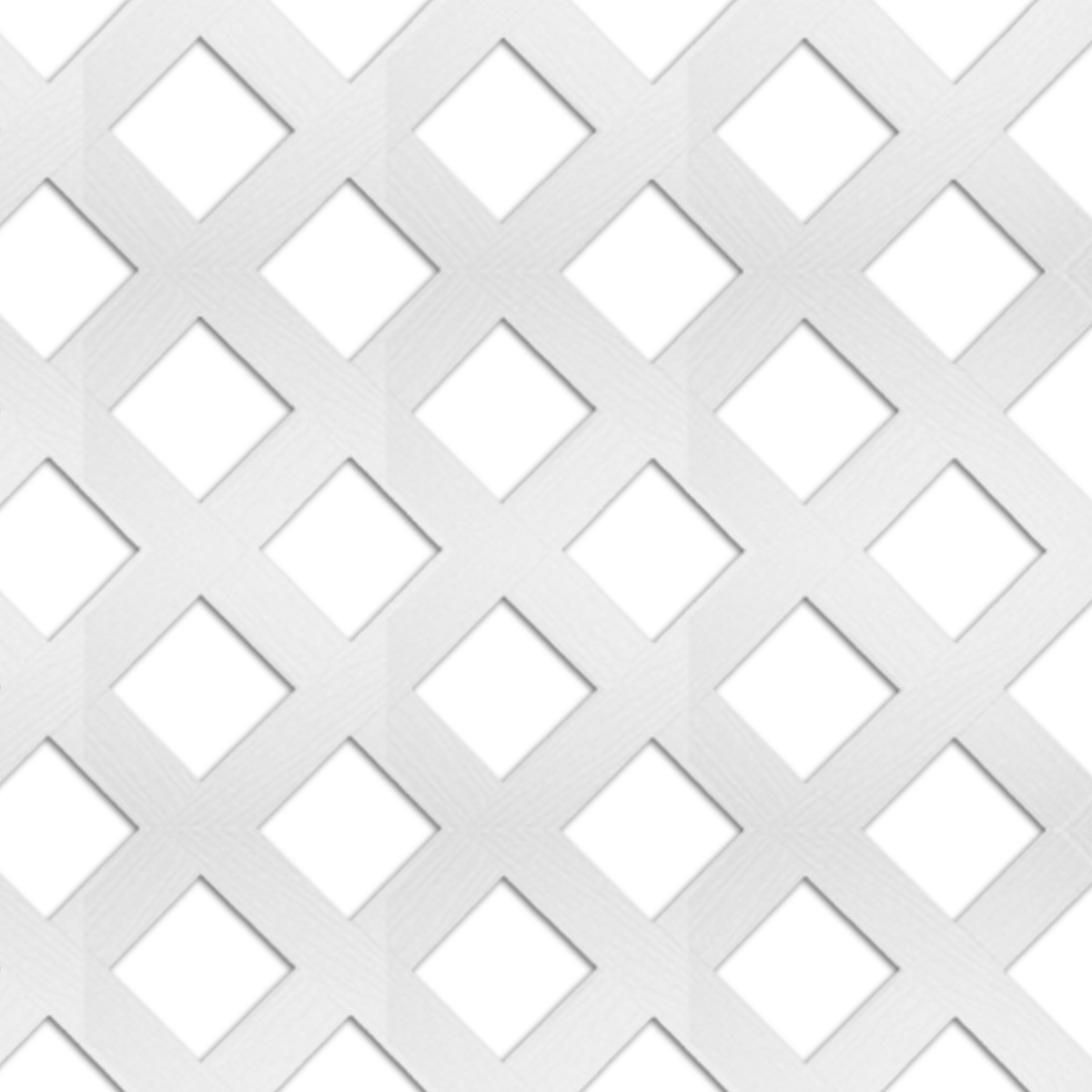 WHITE VINYL LATTICE   2-3/4″ SPACING