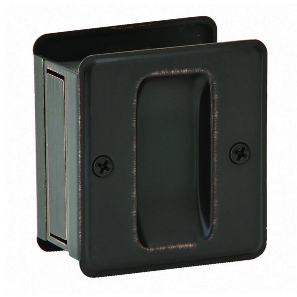 PASSAGE POCKET DOOR PULL AGED BRONZE