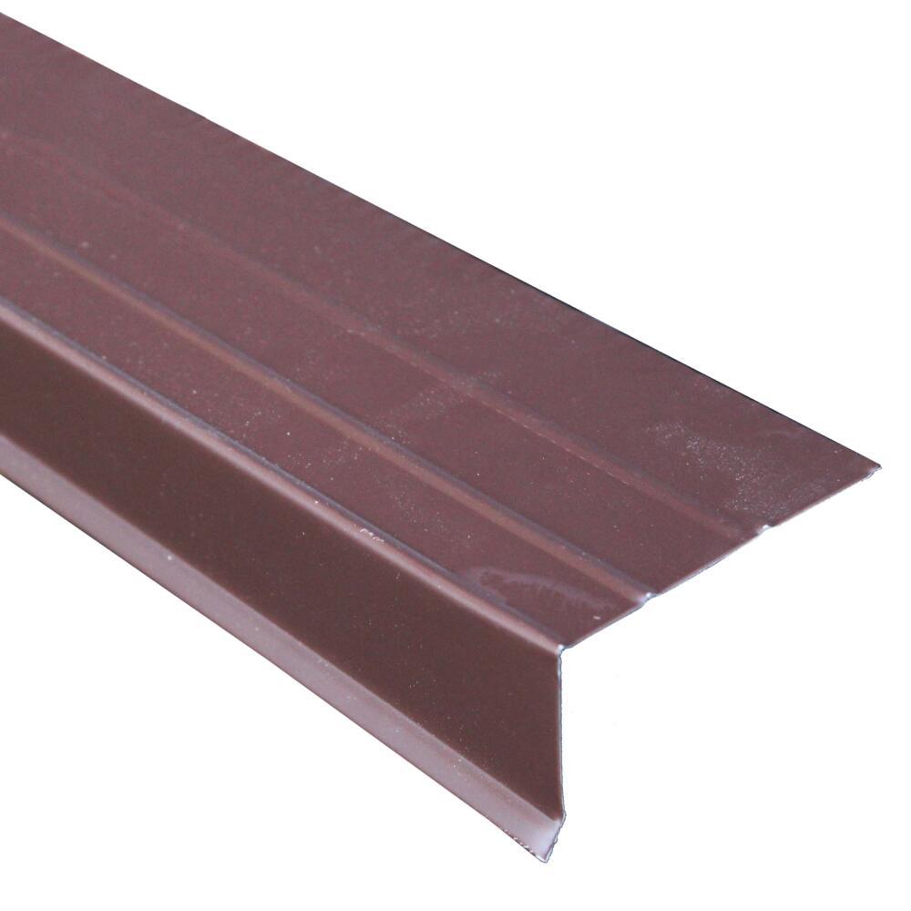 Premium Rake Edge Aluminum Brown