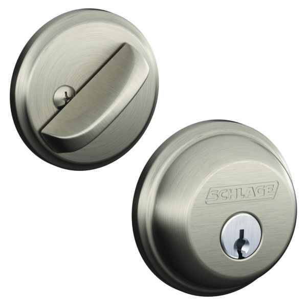 DEADBOLT SATIN NICKEL BOX PK SINGLE CYL