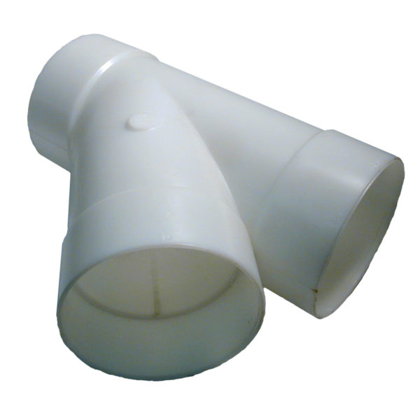 "4″ STYRENE ""Y"" CONNECTOR WH"