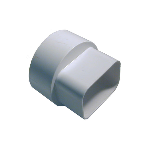 2″X3″X4″ STYRENE DOWNSPOUT ADAPTER WH