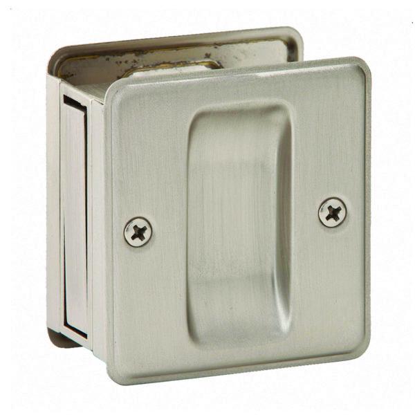 PASSAGE POCKET DOOR PULL SATIN NICKEL