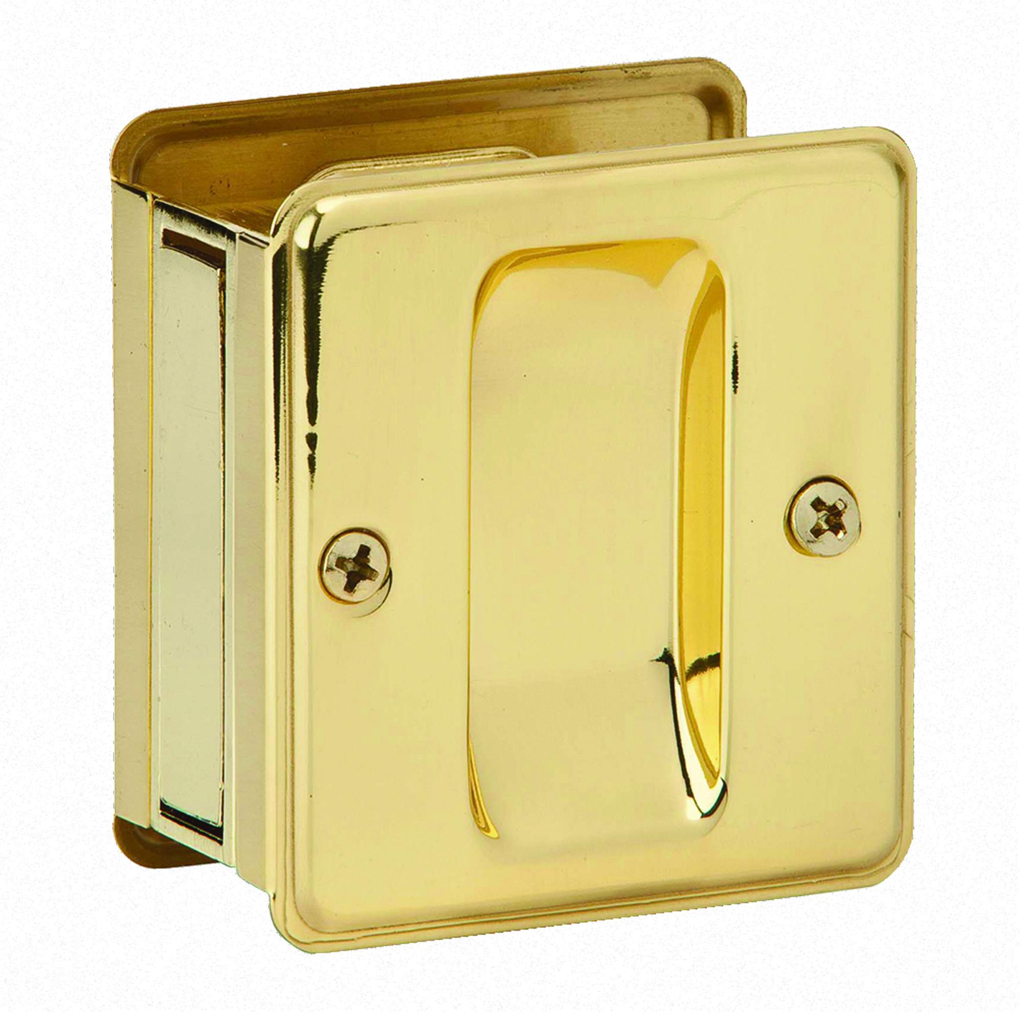 PASSAGE POCKET DOOR PULL BRASS