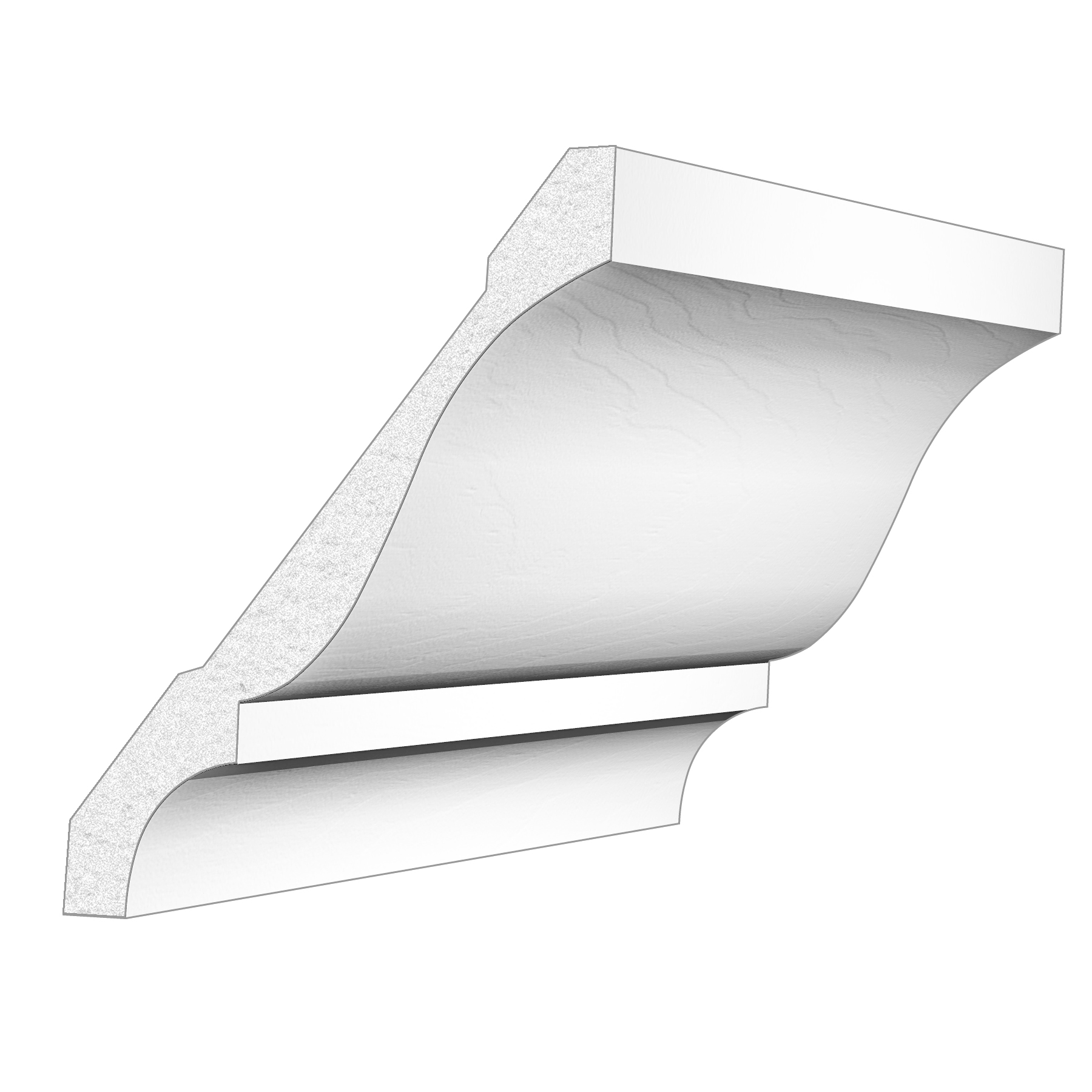 PALIGHT WHITE PVC 4″ CROWN MOULDING