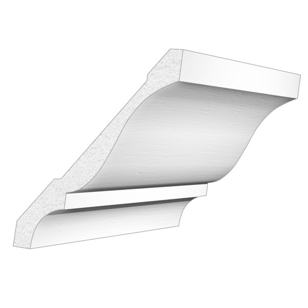 PALIGHT WHITE PVC 5″ CROWN MOULDING