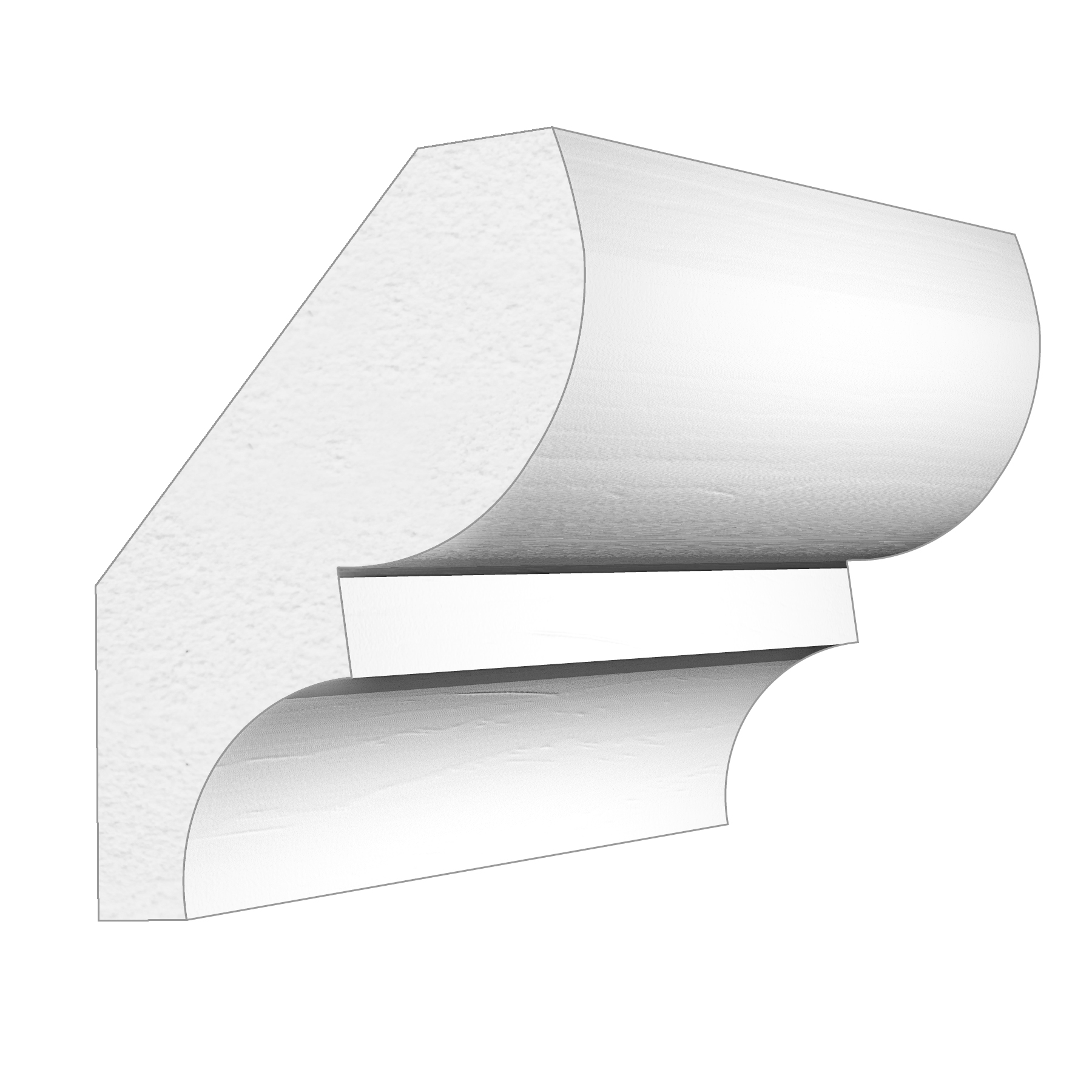 PALIGHT WHITE PVC BED MOULDING