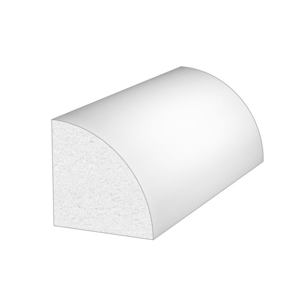 PALIGHT WHITE PVC QUARTER ROUND MOULDING