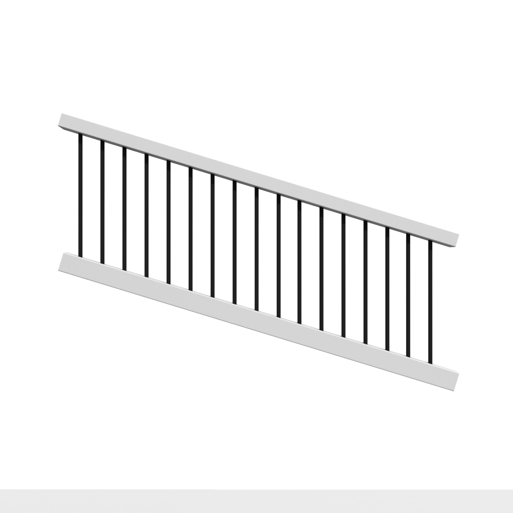 TREX SELECT STAIR RAIL RND BLK BAL WHITE