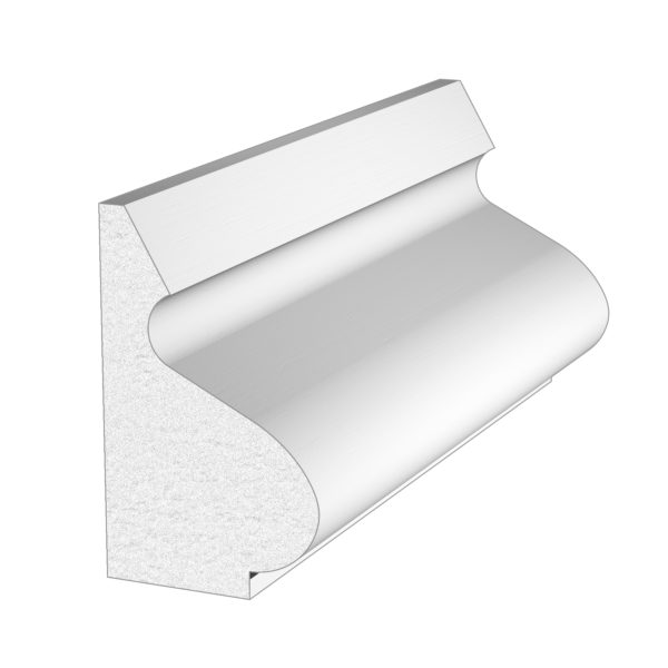 PALIGHT WHITE PVC BASE CAP MOULDING