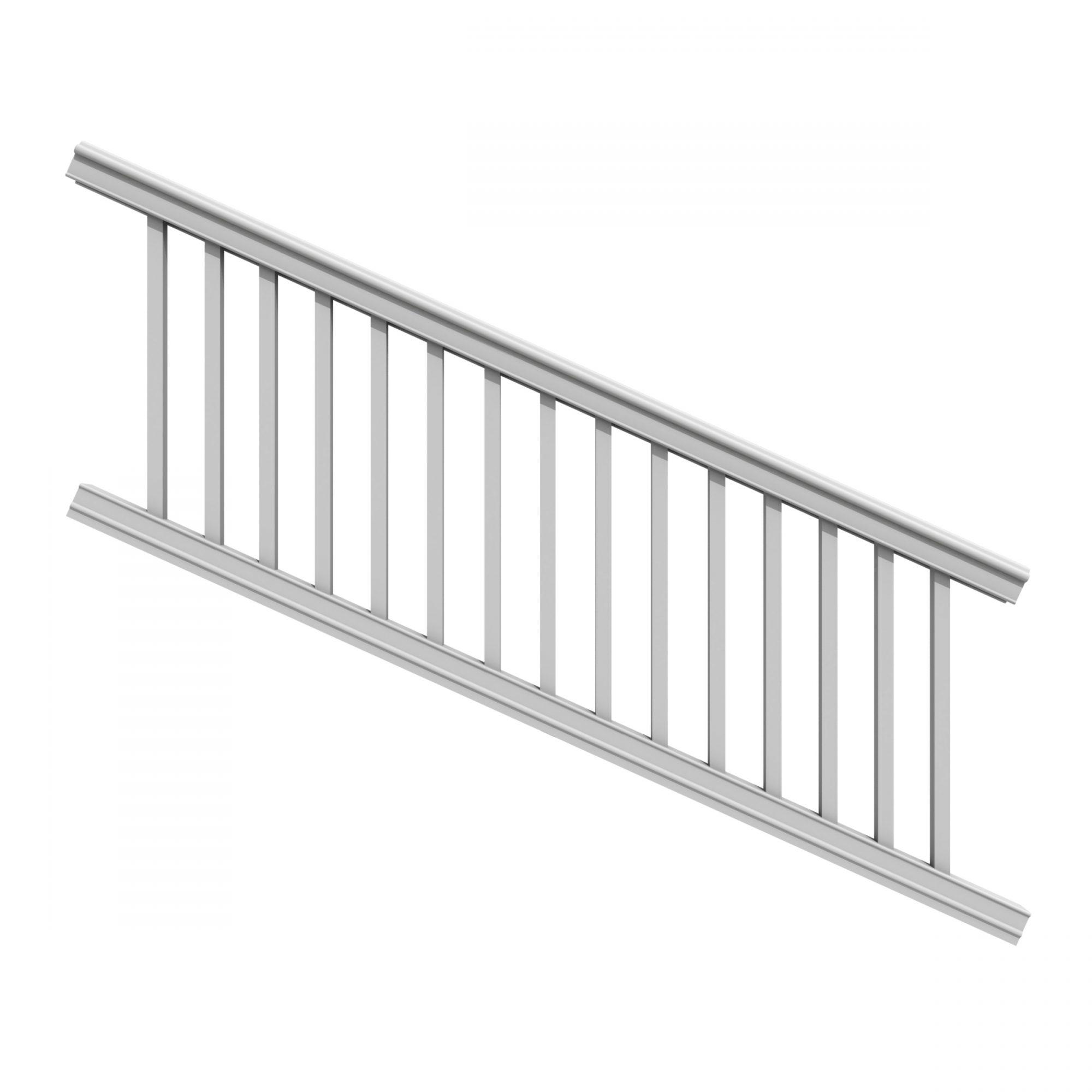 XPANSE PREMIER STAIR RAIL KIT WHITE SQ
