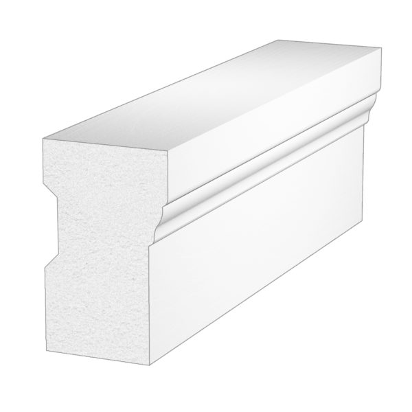 PALIGHT WHITE PVC BRICK MOULDING