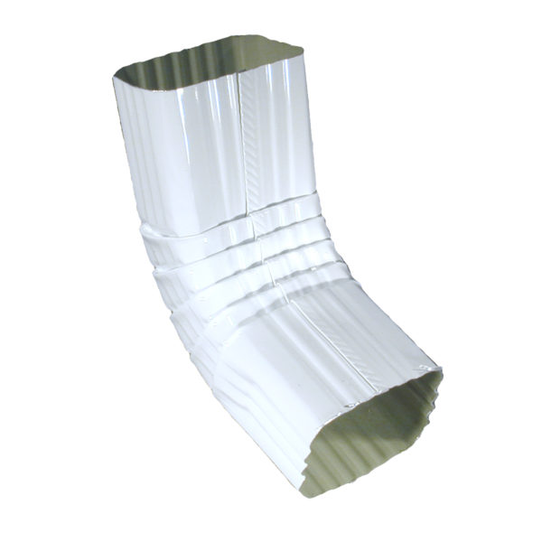 A ELBOW 2″ X 3″ SQUARE WH