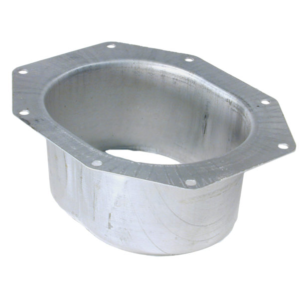 ALUMINUM WIDE FLANGED GUTTER OUTLET