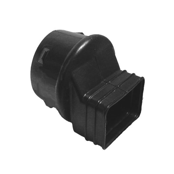 4″ ADS DOWNSPOUT ADAPTER BLACK