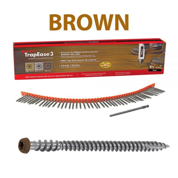 Autofeed Trapease 3 Screws – Brown