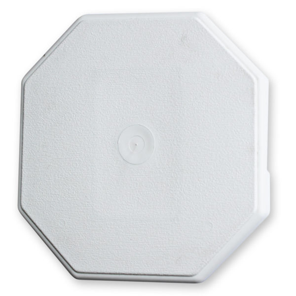 WHITE OCTAGON SURFACE MOUNT BLOCK
