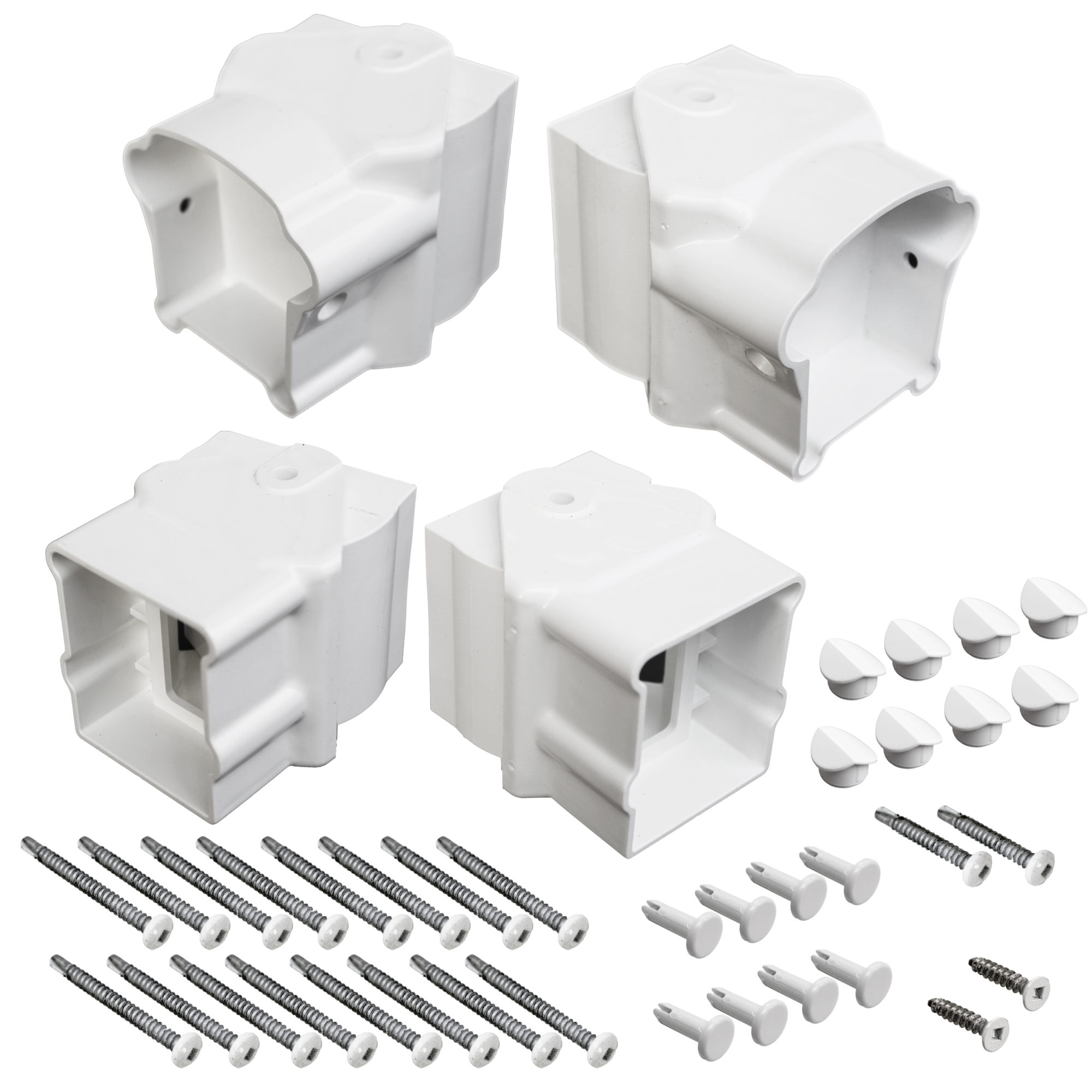 XPANSE RAILING ANGLE BRACKET WHITE (4PC)