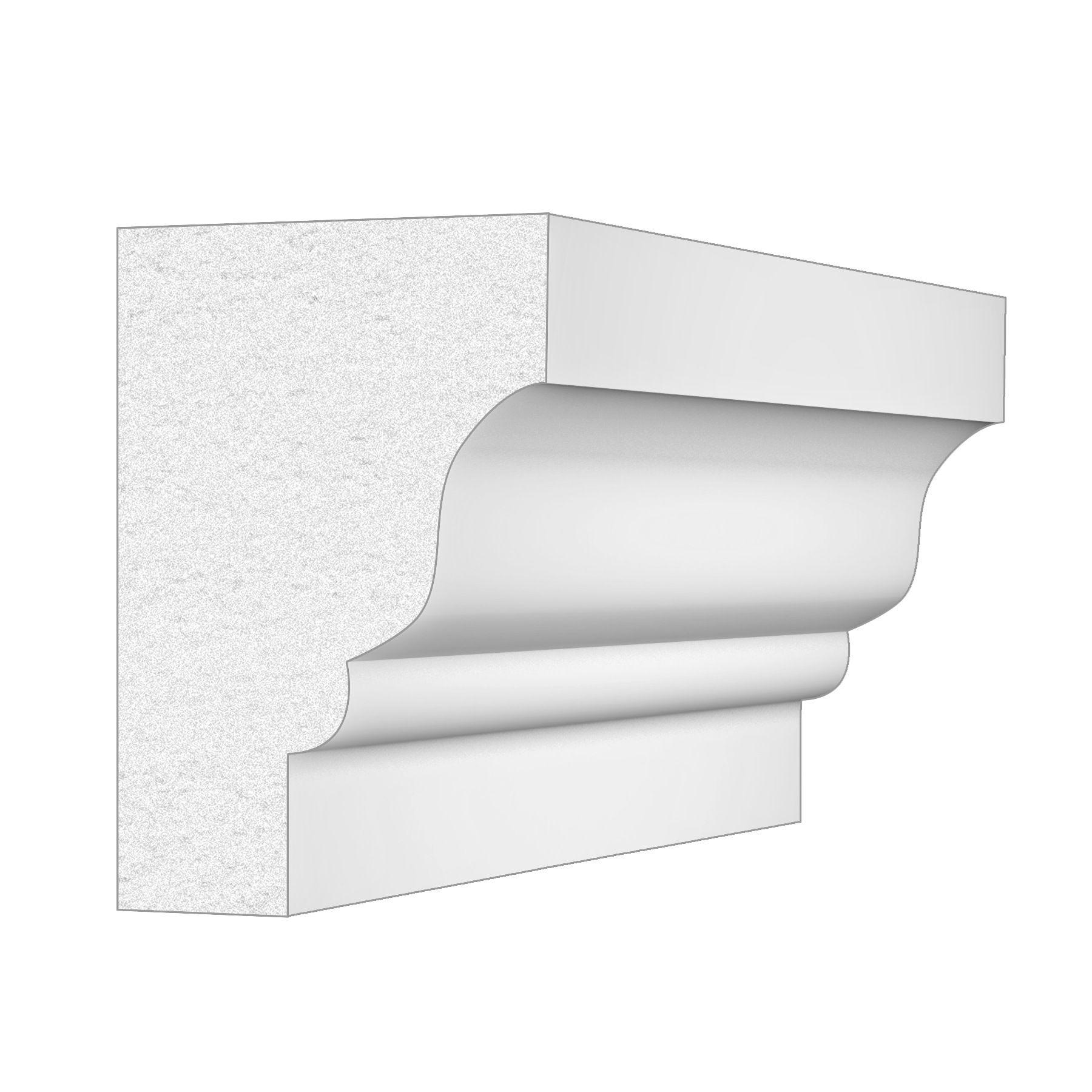 PALIGHT WHITE PVC RAMS CROWN MOULDING