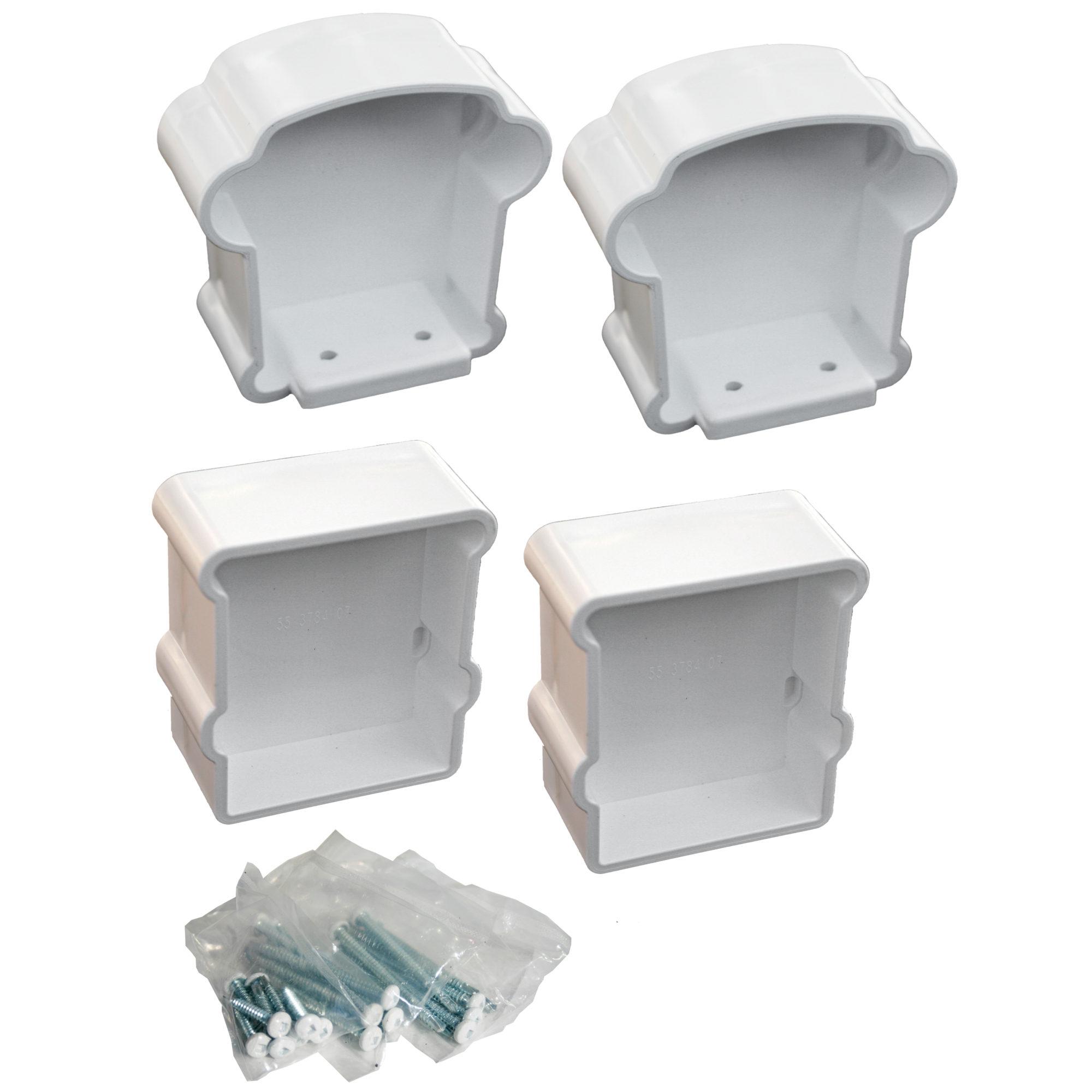 XPANSE RAILING HORIZ BRACKET WHITE (4PC)