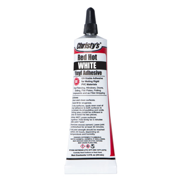 CHRISTY'S RED HOT VINYL ADHESIVE WHITE