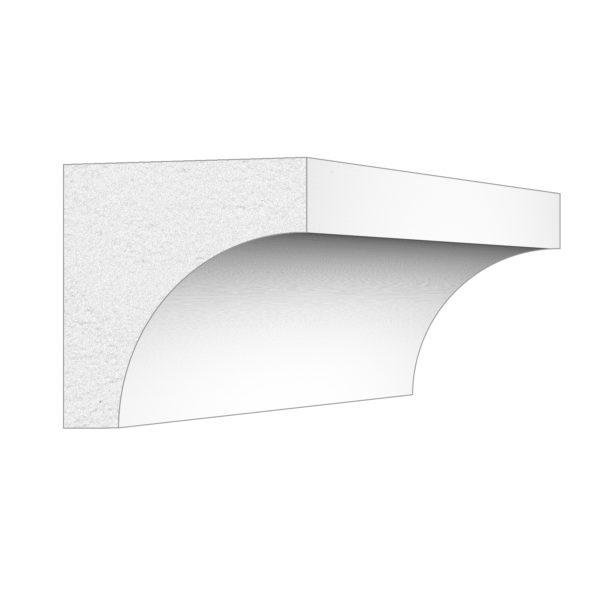 PALIGHT WHITE PVC SCOTIA COVE MOULDING