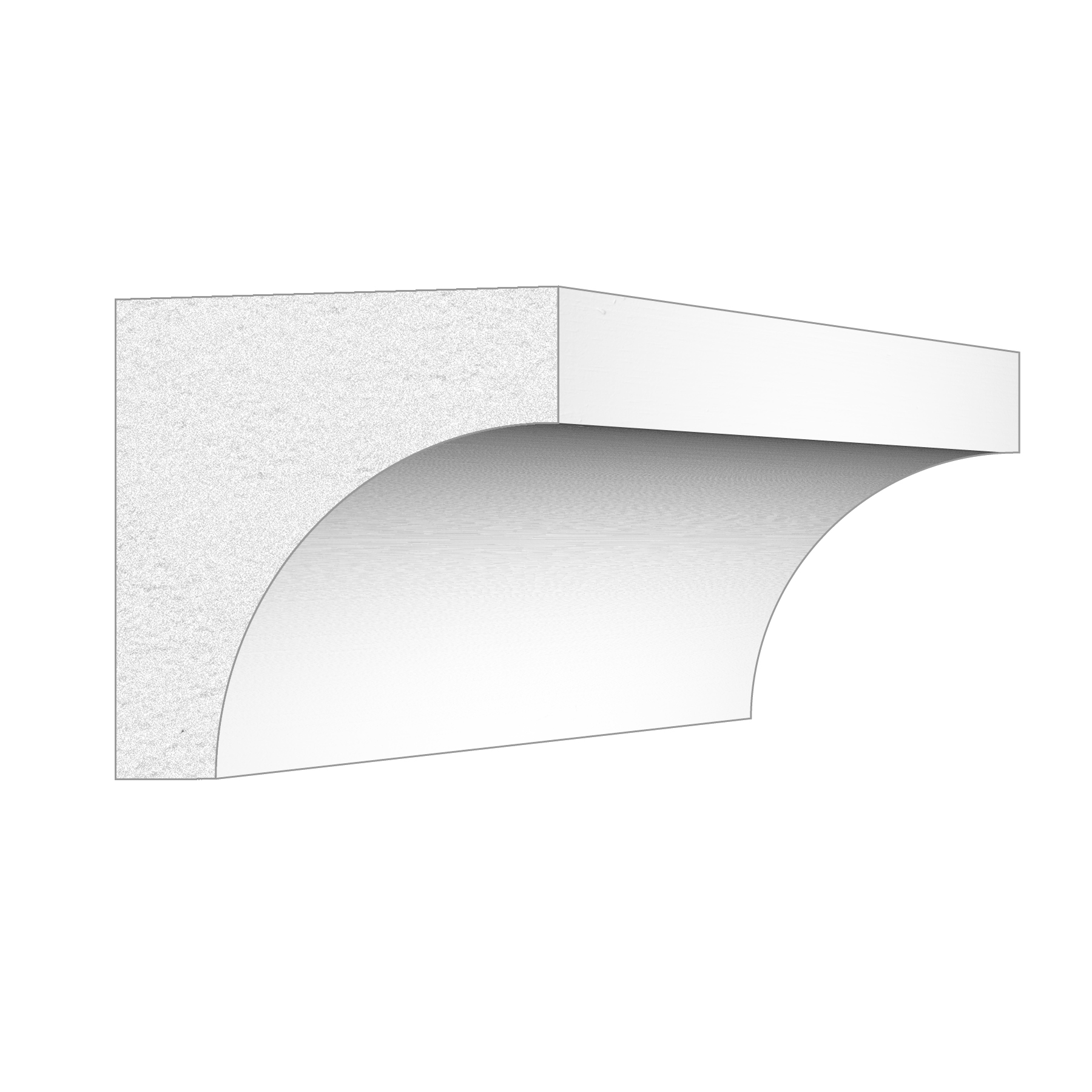 PALIGHT WHITE PVC SCOTIA COVE MOULDING