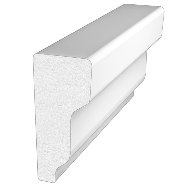 PALIGHT WHITE PVC SHINGLE BAND MOULDING