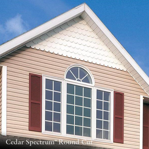 GP CEDAR SPECTRUM ROUND-CUT VINYL SIDING