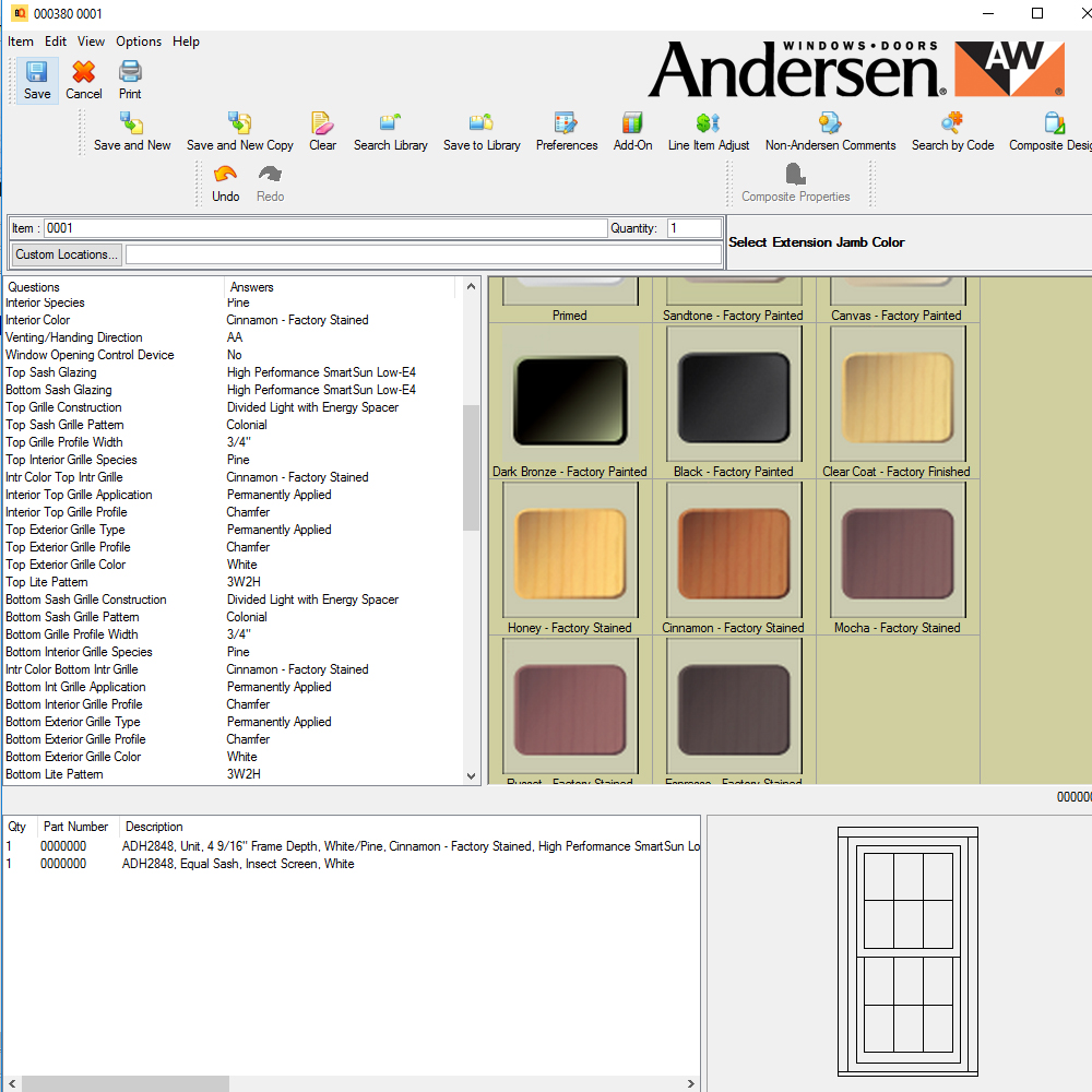 ANDERSEN WINDOW QUOTING TOOLS