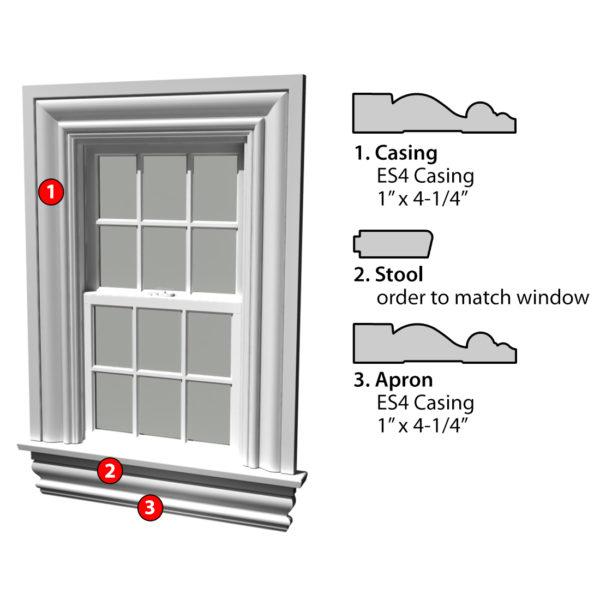 MSG ASSEMBLED WINDOW CASING 3SSA ES4