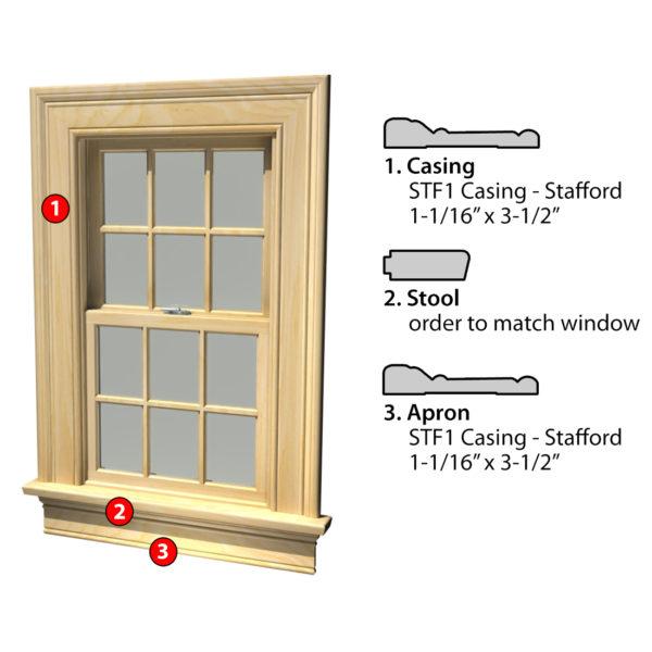 Msg Assembled Window Casing 3SSA STF1