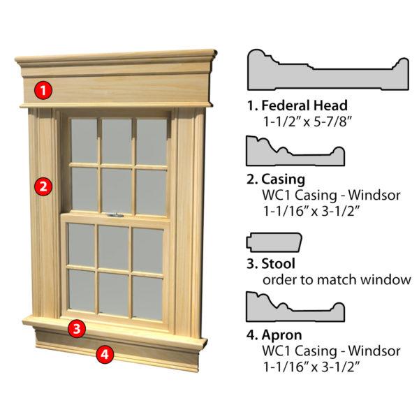 MSG ASSEMBLED WINDOW CASING 3SSA FED WC1
