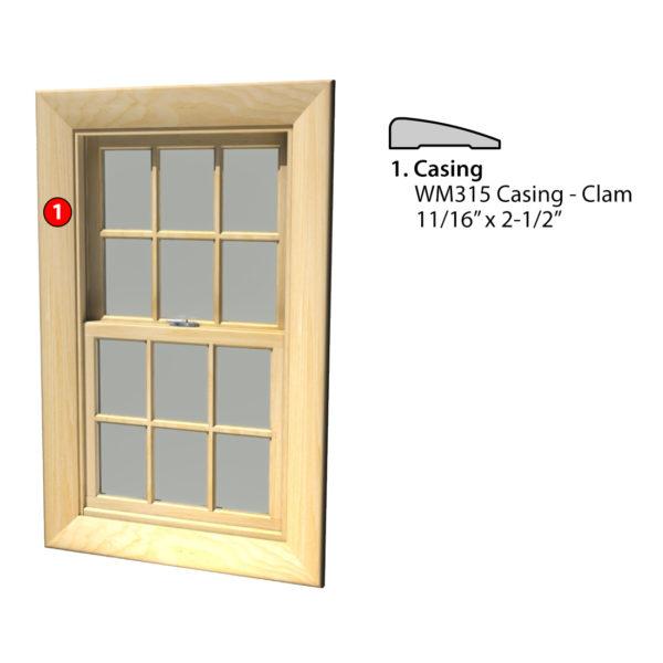MSG ASSEMBLED WINDOW CASING 4S WM315