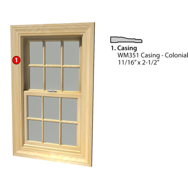 MSG ASSEMBLED WINDOW CASING 4SSA WM351