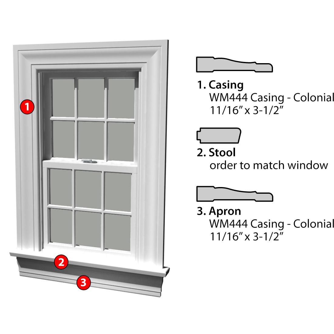 Msg Assembled Window Casing 3SSA WM444