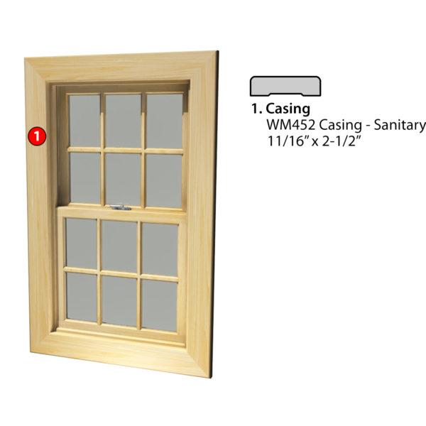 MSG ASSEMBLED WINDOW CASING 4S WM452